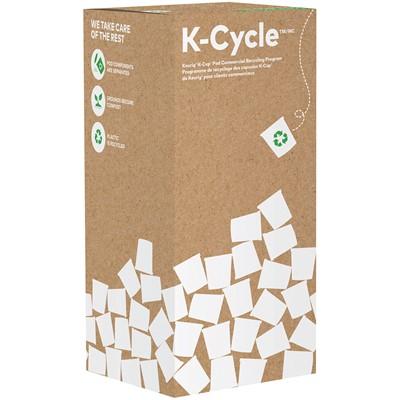 Boîte K-Cycle du programme de recyclage de capsules K-Cup de Keurig pour les clients commerciaux, grand format, capacité de 400